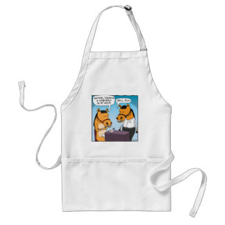 Funny Horse Complains About Horsefly in Soup Adult Apron
