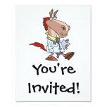 funny horse doc doctor cartoon custom invitations