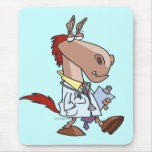 funny horse doc doctor cartoon mouse pad