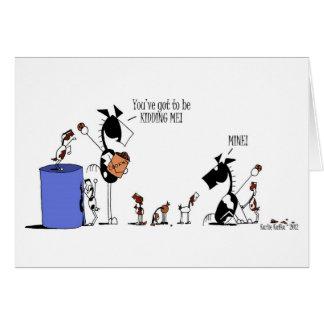Funny Horse & Goat Kids Cartoon Greeting Card