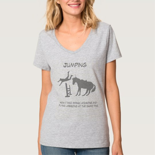 Funny Horse Jumping Flying Falling Humour T-Shirt