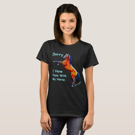 Funny Horse Lovers Design by donnyM T-Shirt