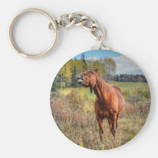 Funny Horse-lover's Sorrel Mare Equine Photo Ranch Keychains
