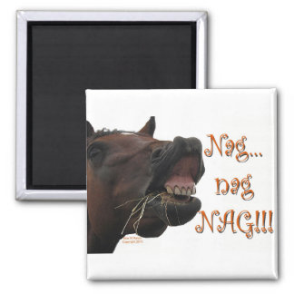Funny Horse: Nag, nag, nag Magnet