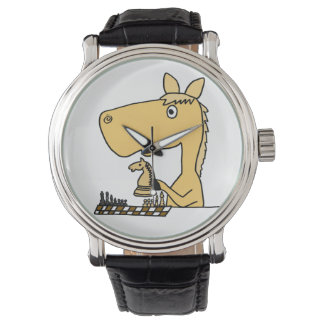 Funny Horse Playing Chess Watch