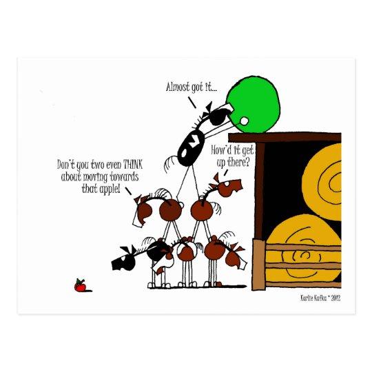 Funny Horse Pyramid Cartoon Postcard