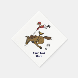 Funny Horse Race Party Disposable Napkins