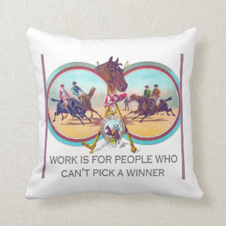 Funny Horse Racing – Work For People Who Can't Win Cushion