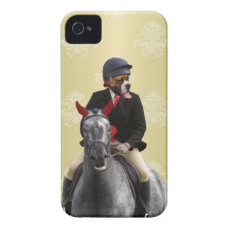 Funny horse rider character iPhone 4 case