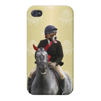 Funny horse rider character iPhone 4 cover