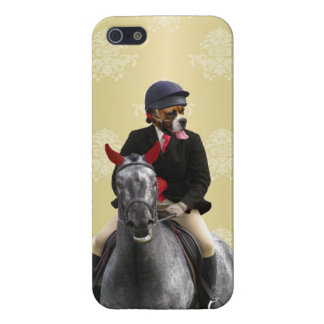 Funny horse rider character iPhone 5/5S cases