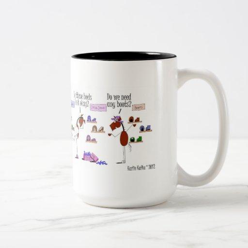 Funny Horse Shoe Shopping Cartoon Two Tone Coffee Mug Zazzle
