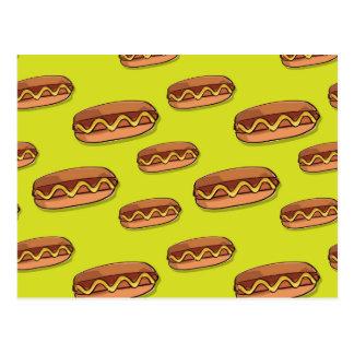Funny Hot Dog Food Design Postcard