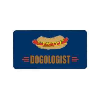 Funny Hot Dog Address Label