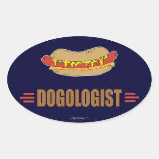 Funny Hot Dog Oval Sticker