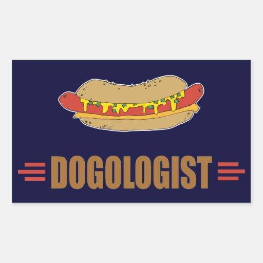 Funny Hot Dog Rectangular Sticker