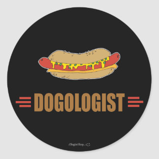 Funny Hot Dog Round Stickers