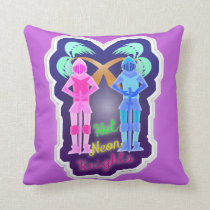 Funny Hot Neon Knights Design Cushion