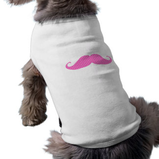 Funny Hot Pink Girly  Polka Dots Mustache Shirt