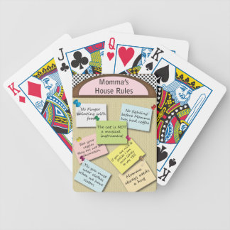 Funny  House Rules Bicycle Playing Cards