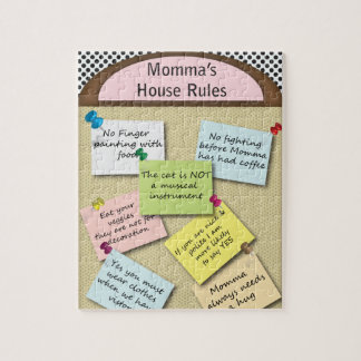 Funny  House Rules Jigsaw Puzzle