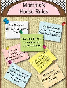 Funny House Rules Postcards | Zazzle UK