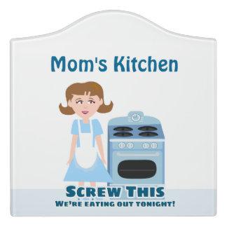 Funny Housewife Kitchen Slogan Door Sign