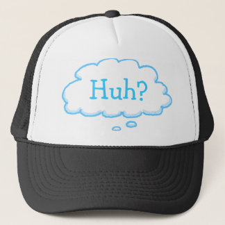 Funny HUH Thought Bubble Final Exams Thinking Cap