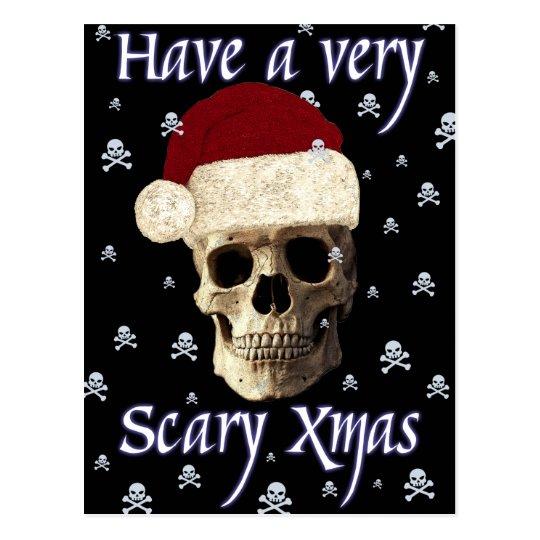 Funny Humour Gothic Skull Christmas Xmas Postcard
