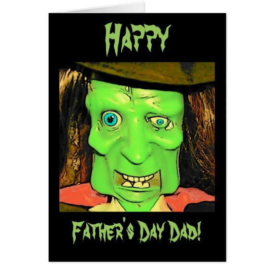 Funny Humour Monster Father's Day Card