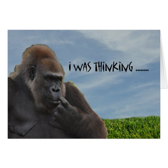 Funny Humourous Ape Gorilla Getting Old Card