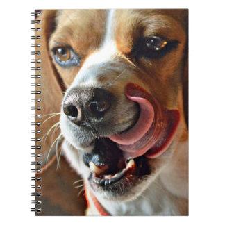 Funny Hungry Beagle Hound Dog Spiral Notebook