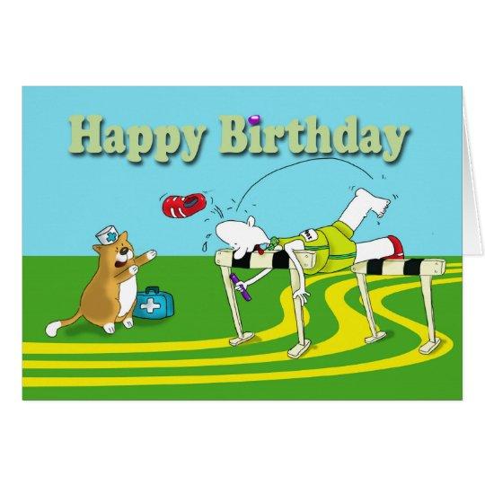 Funny hurdle Birthday Card