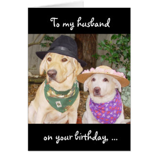 Funny Husband Birthday Greeting Card