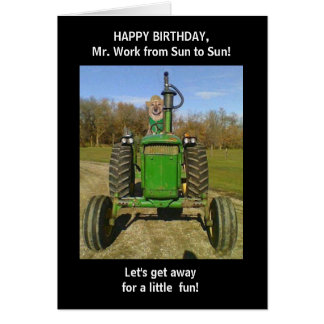 Funny Husband/Farmer Birthday Card