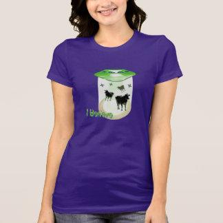 Funny I Believe U.F.O. Aliens Abducting Cows Tee Shirt