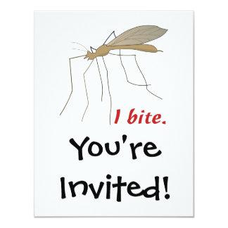 funny i bite mosquito design 11 cm x 14 cm invitation card