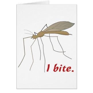 funny i bite mosquito design cards