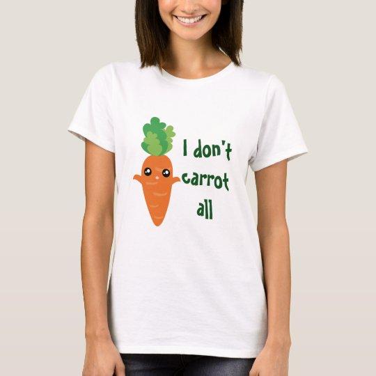 Funny I don't Carrot All Food Cartoon Pun