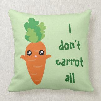 Funny I don't Carrot All Food Pun Humor Cartoon Cushion