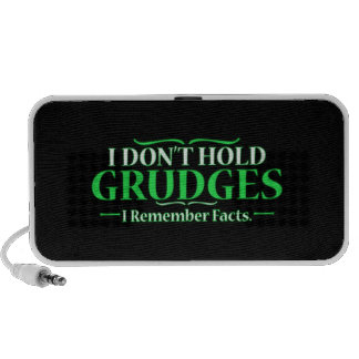 FUNNY I DON'T HOLD GRUDGES I REMEMBER FACTS HUMOR NOTEBOOK SPEAKERS