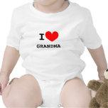 Funny I heart grandma infant bodysuit | Kids joke