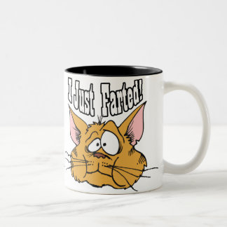 Funny I Just Farted Rude Gifts Two-Tone Coffee Mug