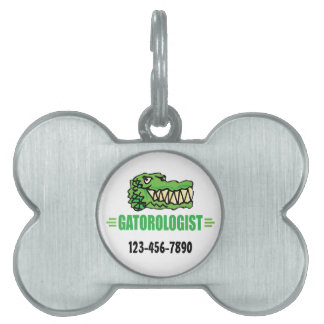 Funny I Love Alligators Pet ID Tag