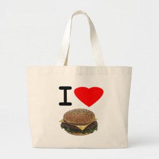 Funny I Love Cheeseburgers Bag