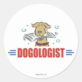 Funny I Love Dogs Round Sticker