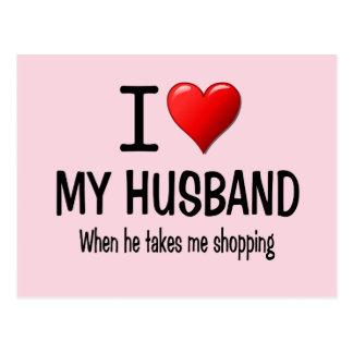 Funny I love my husband Postcard