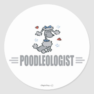 Funny I Love Poodles Stickers