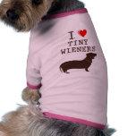 Funny I Love Tiny Wiener Dachshund