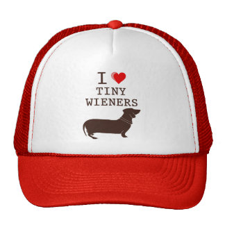 Funny I Love Tiny Wiener Dachshund Cap